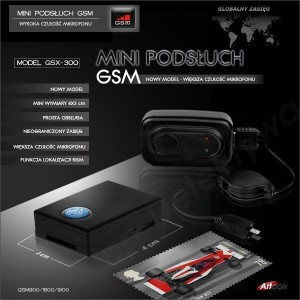 Mini podsłuch GSM nowy model GSX-300 (1)