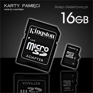 Karta pamięci 16GB mSD do kamer DVR