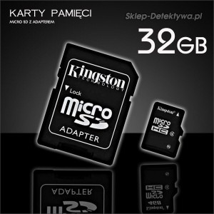 Karta pamięci 32GB mSD do kamer DVR