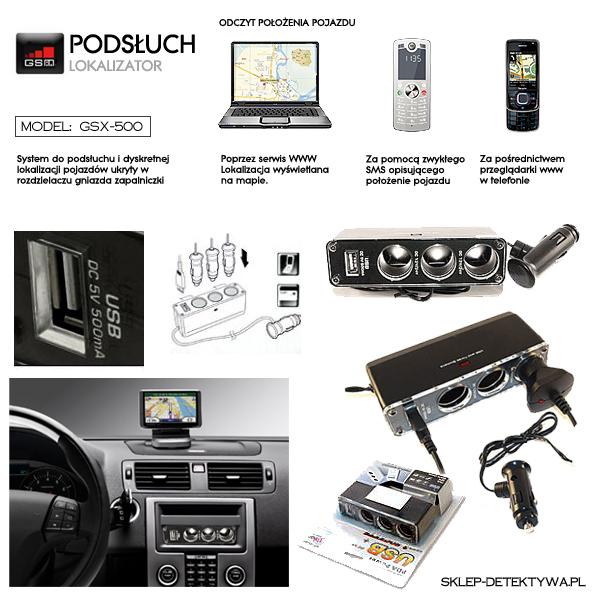 Podsłuch lokalizatotr samochodowy GSX-500